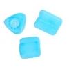 Triangular Beads 5X5mm Blue Matte Solgel